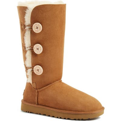 UGG Bailey Button Triplet Ii Genuine Shearling Boot, Brown