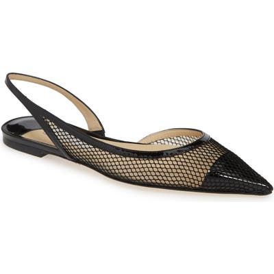 Jimmy Choo Fetto Mesh Flat, Black