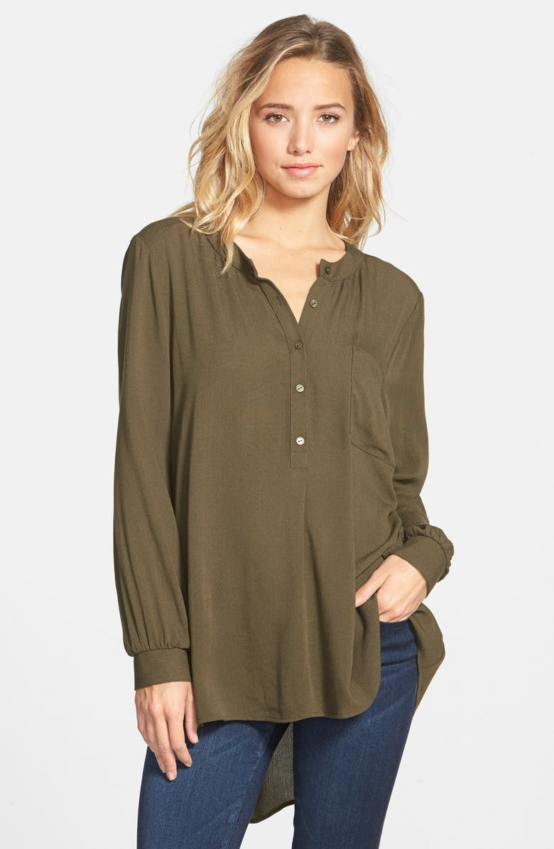 --- Clothing High/Low Tunic Blouse, Main, color, 300