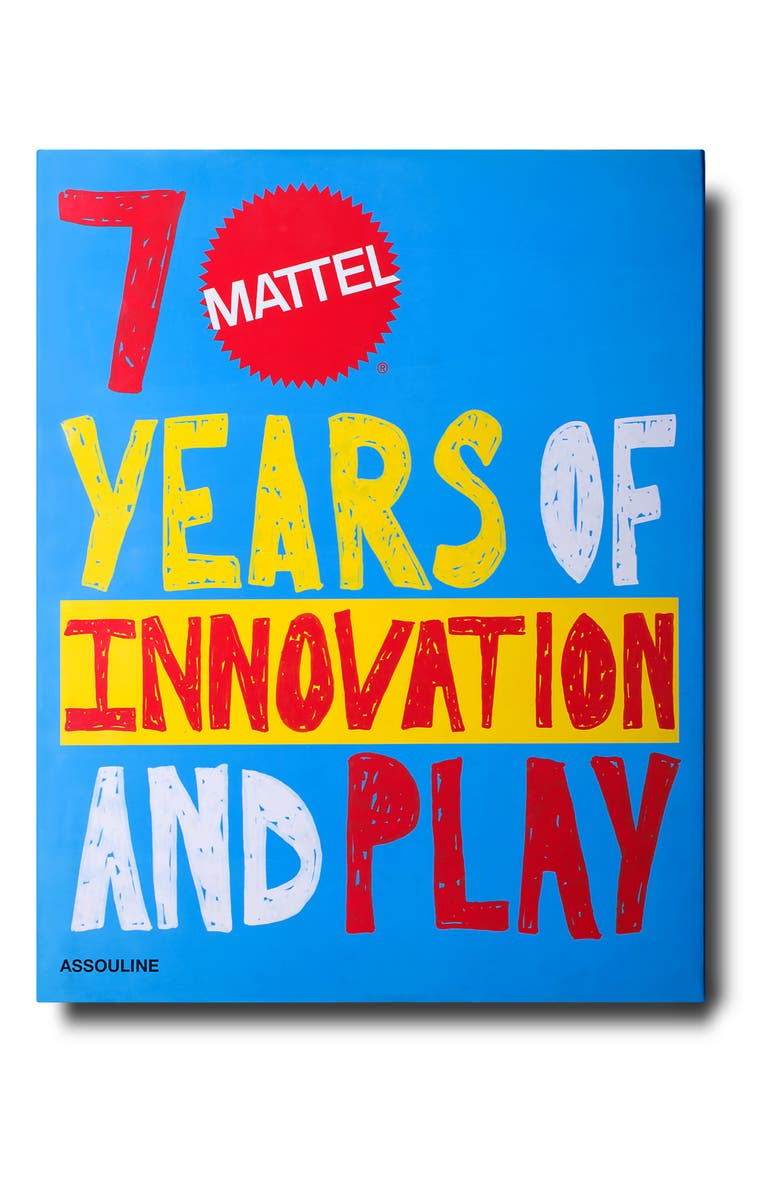 ASSOULINE 'Mattel: 70 Years of Innovation and Play' Book, Main, color, BLUE