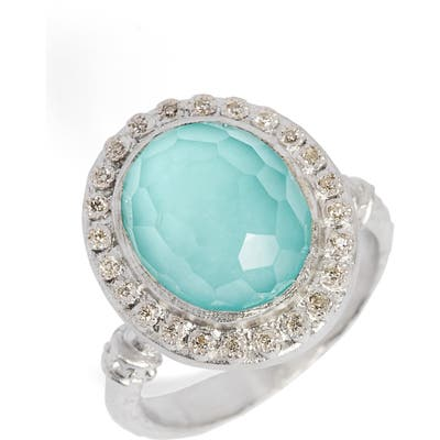 Armenta New World Diamond & Turquoise Ring
