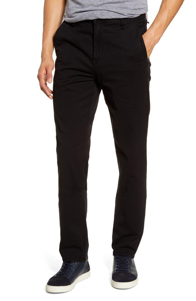 RAG & BONE Fit 3 Classic Slim Straight Leg Chino, Main, color, BLACK