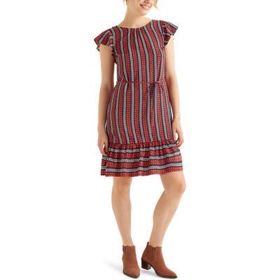 Boden Cynthia Flounced Dress, Blue