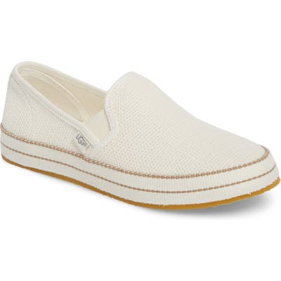 Ugg Bren Slip-On Sneaker, White