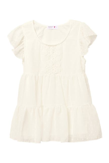 Image of Beautees Tiered Lace Trim Top