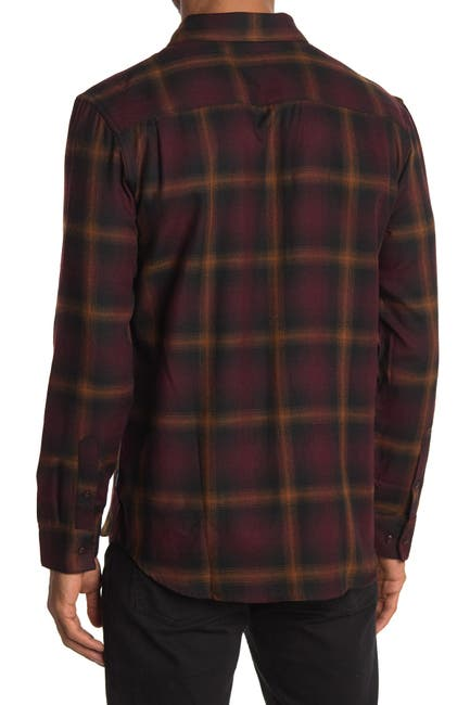 Image of 7 Diamonds Broken Halo Plaid Flannel Slim Fit Shirt