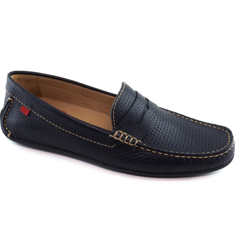 MARC JOSEPH NEW YORK 'Union Street' Penny Loafer, Main, color, NAVY