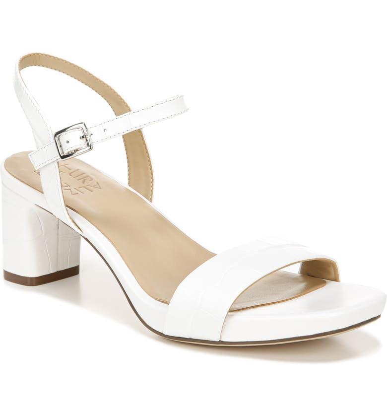 NATURALIZER Ivy Ankle Strap Sandal, Main, color, WHITE CROCO PRINT