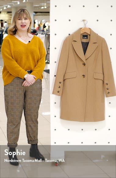 Notched Collar Wool Blend Coat, sales video thumbnail