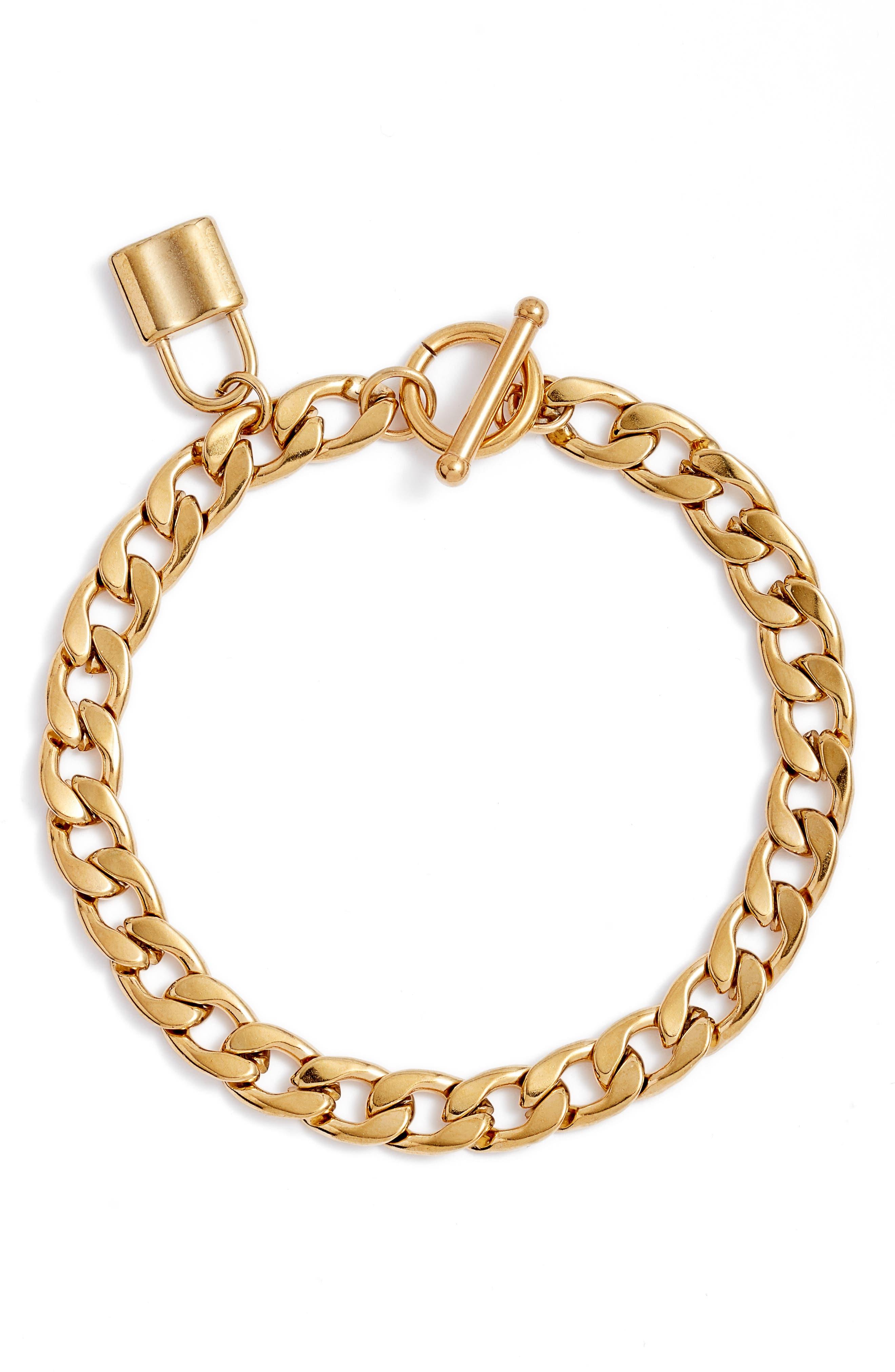 Lock It Chain Link Bracelet