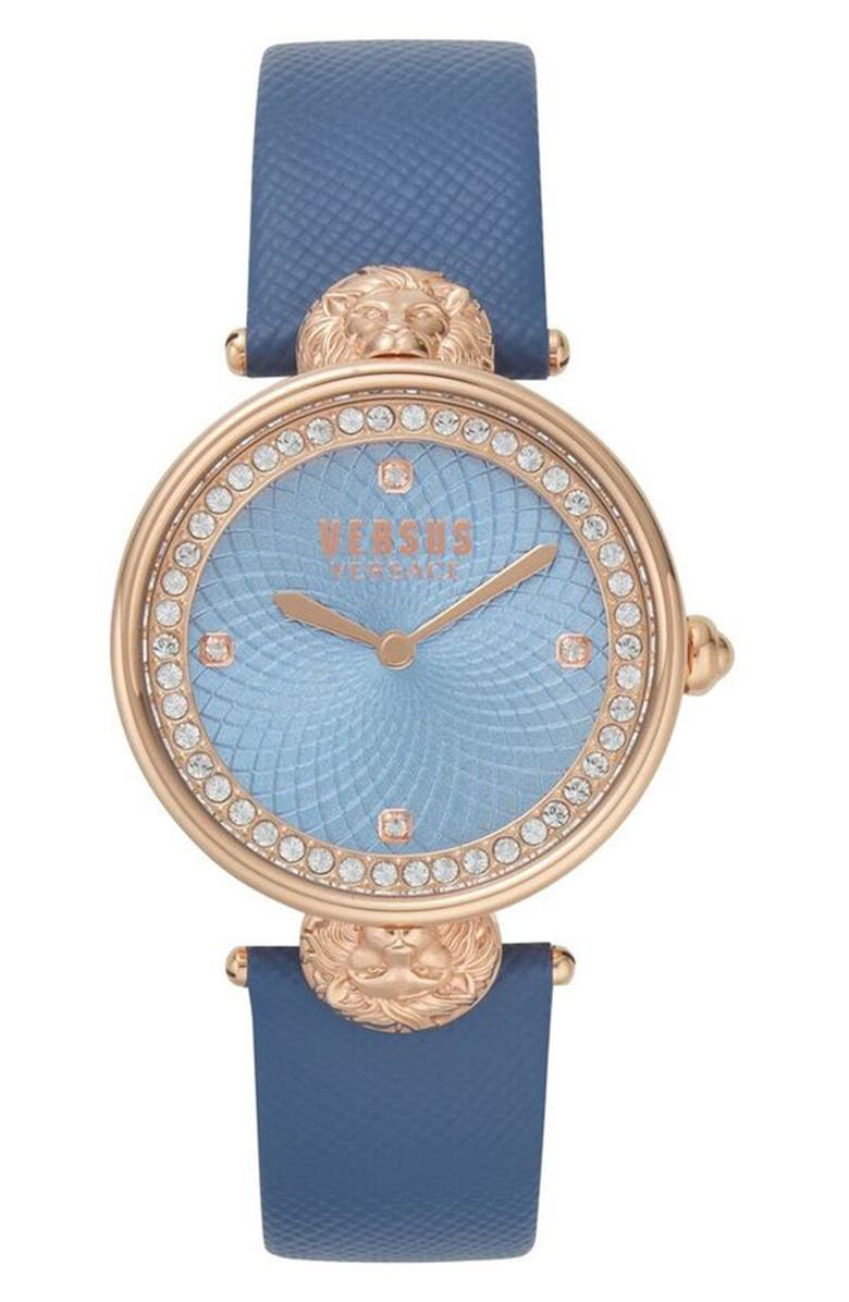 VERSUS Versace Victoria Leather Strap Watch 34mm