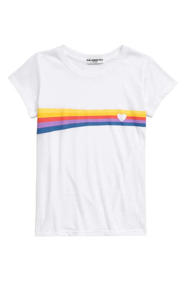 SUB_URBAN RIOT Heart Stripe Tee, Main, color, 100