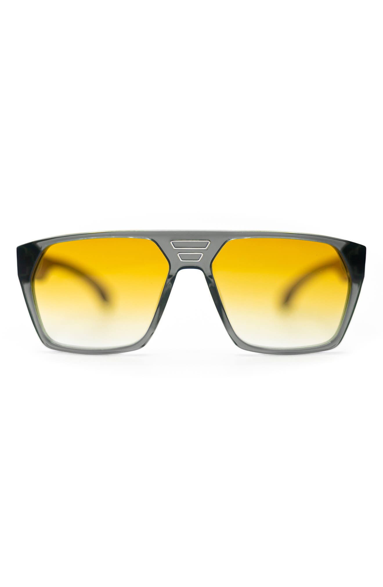 Voyager 59mm Gradient Rectangular Blue Light Blocking Sunglasses