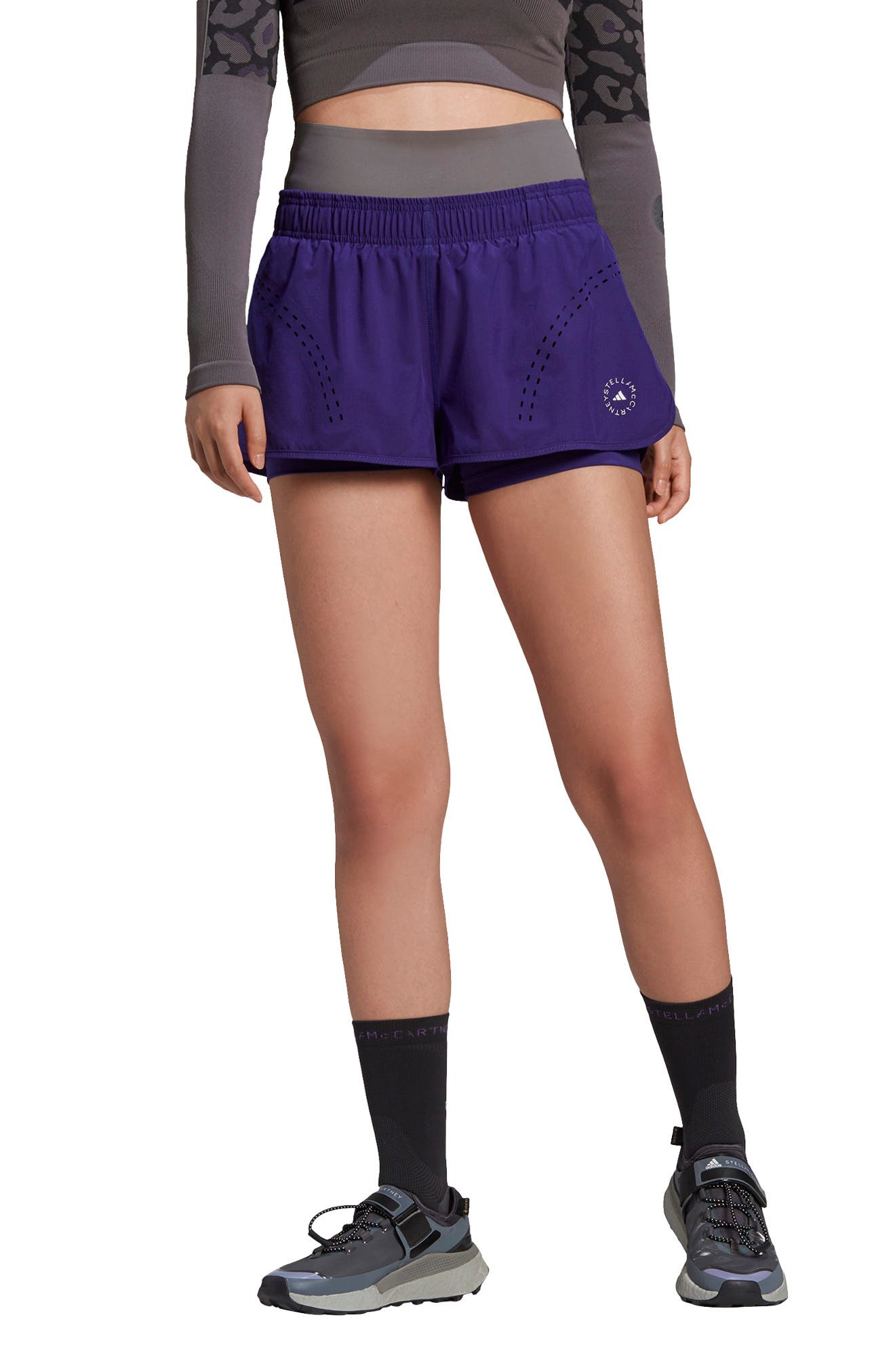 Adidas by Stella McCartney TruePurpose Layered Performance Shorts | Nordstrom