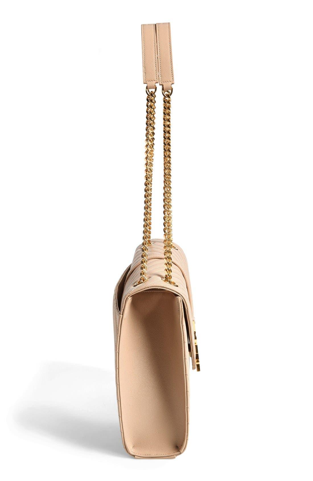 ,                             'Large Monogram' Grained Leather Shoulder Bag,                             Alternate thumbnail 28, color,                             250