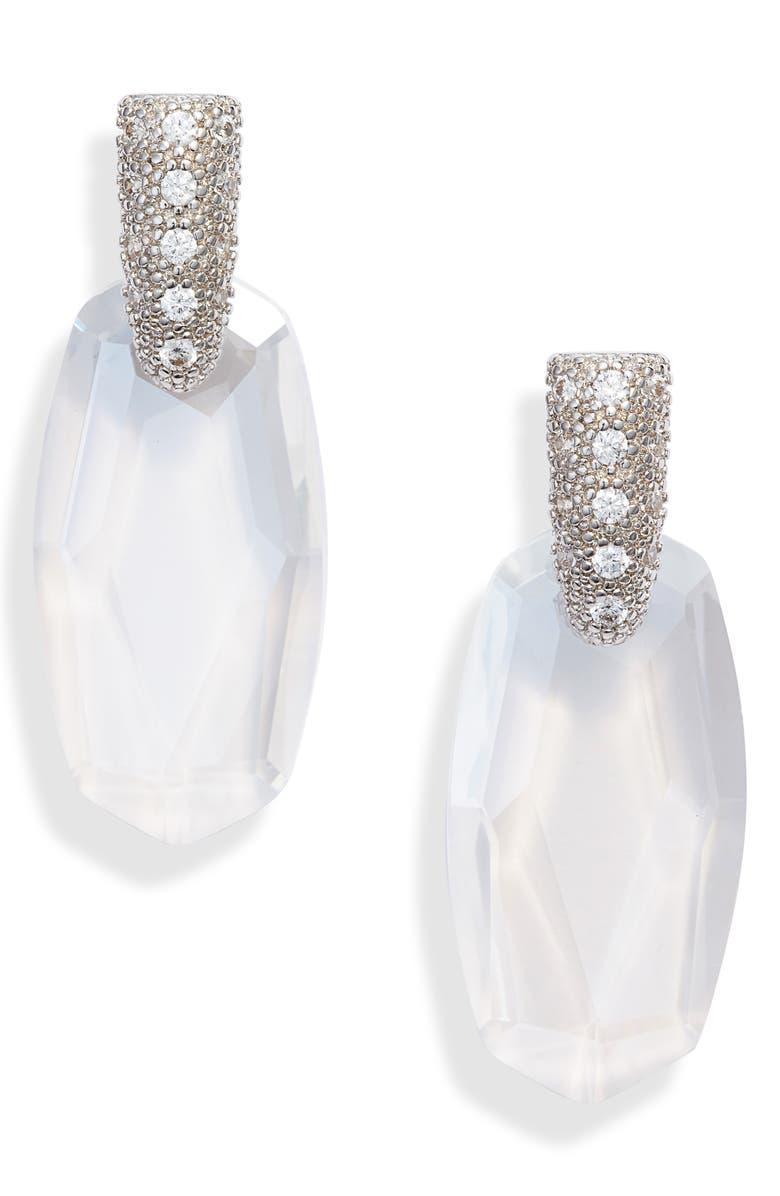 KENDRA SCOTT Circe Drop Earrings, Main, color, LUSTRE GLASSS/ SILVER