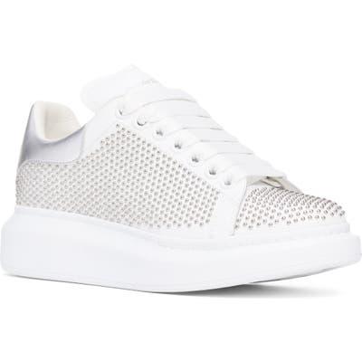 Alexander Mcqueen Studded Platform Sneaker, White