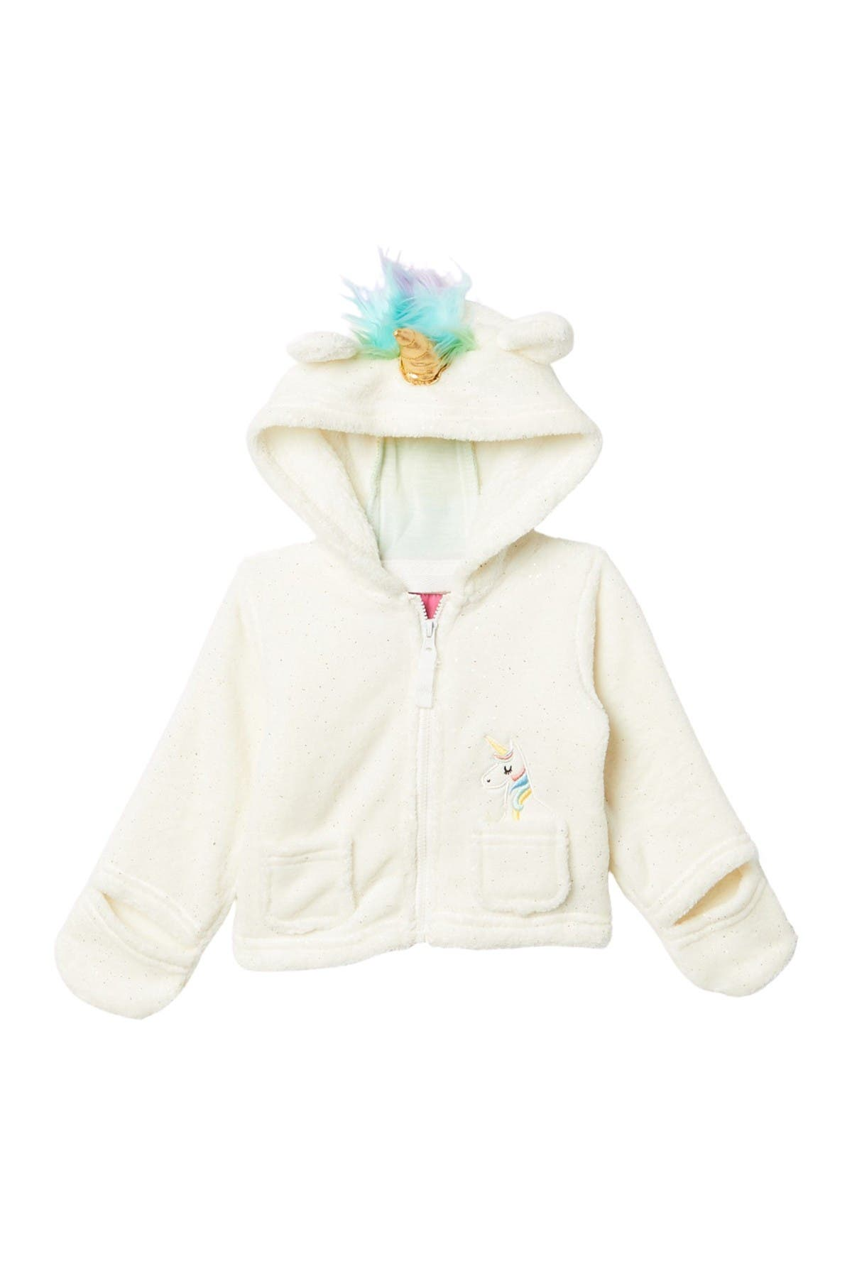 Image of Wippette Soft Faux Shearling Unicorn Jacket