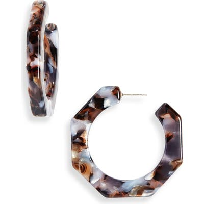 Madewell Acetate Octagonal Hoop Earrings