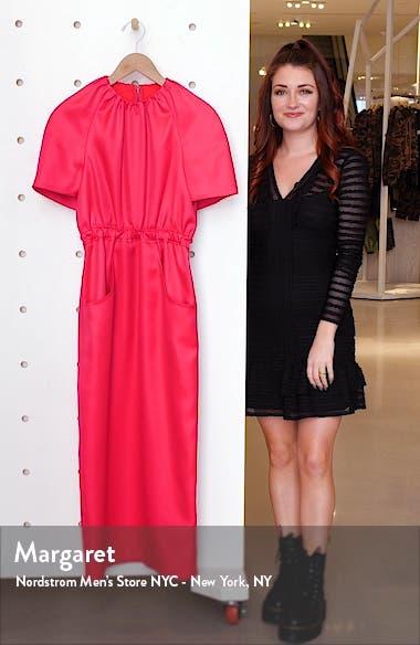 Cape Sleeve Wool & Silk Dress, sales video thumbnail
