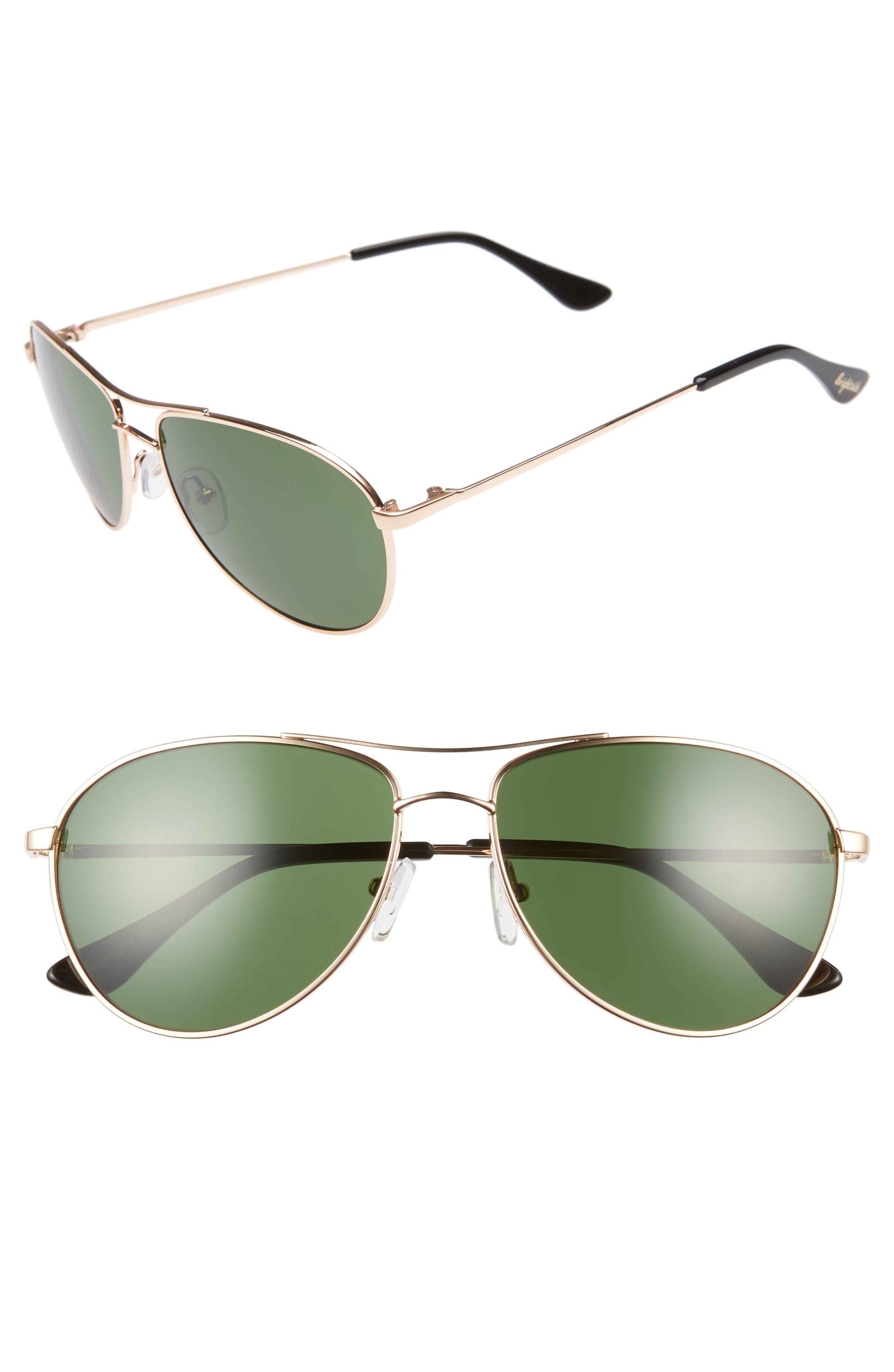 Orville 58mm Mirrored Aviator Sunglasses