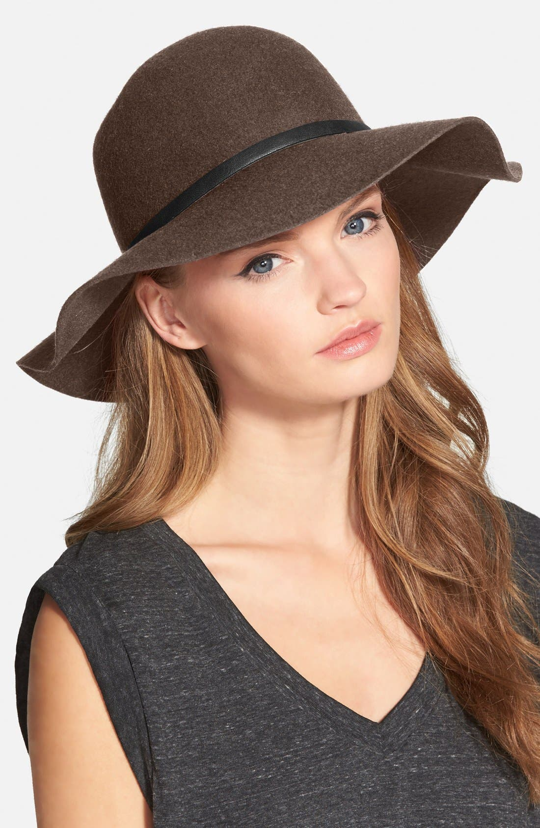,                             Floppy Wool Hat,                             Main thumbnail 11, color,                             200