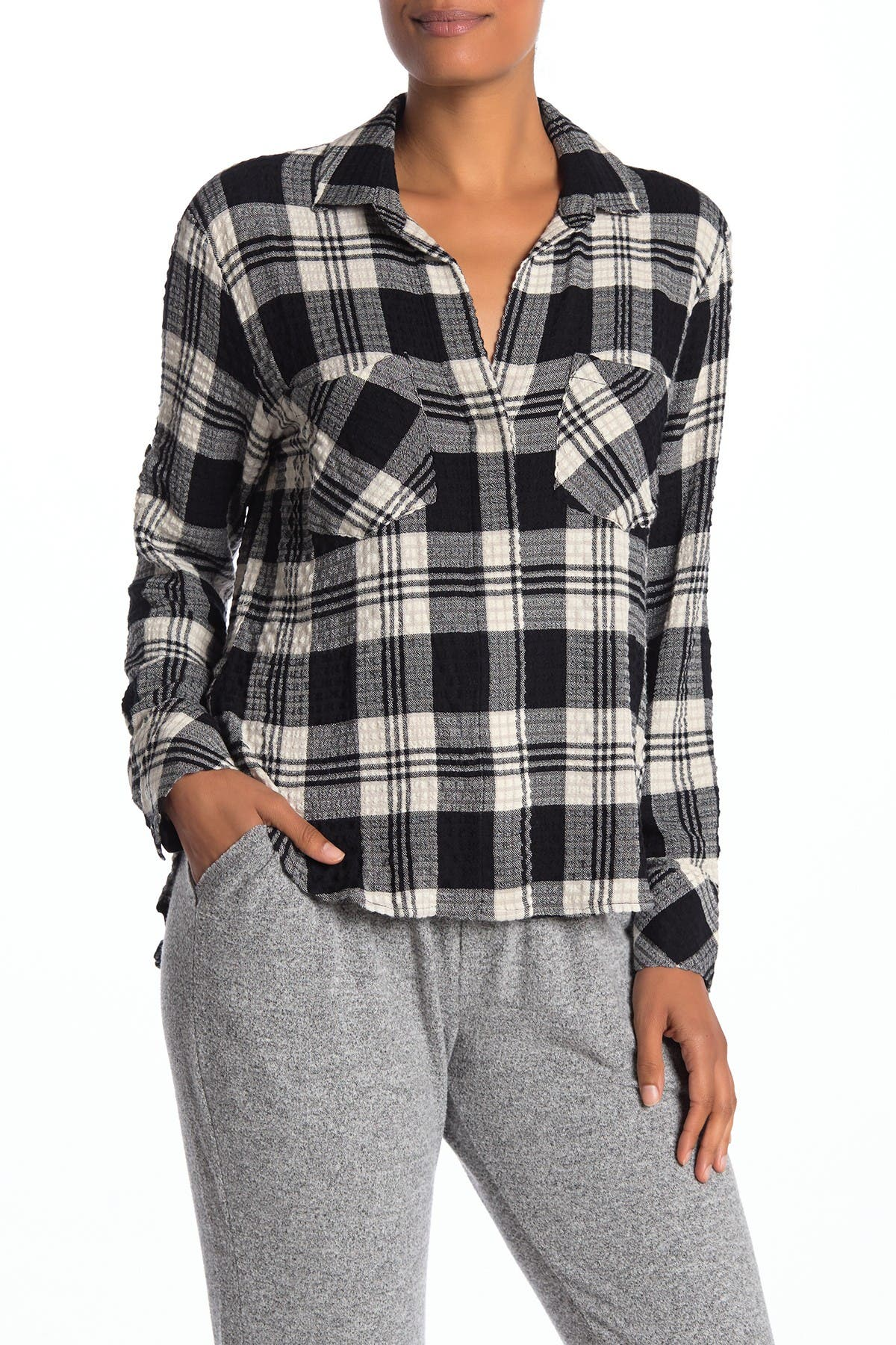 Image of Cloth & Stone Split Back Button Down Shirt