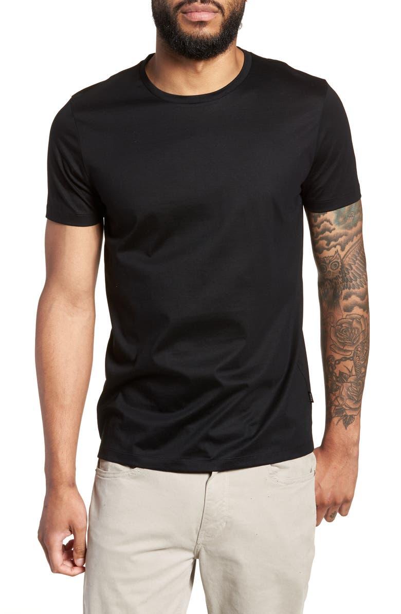 BOSS Tessler Slim Fit Crewneck T-Shirt, Main, color, BLACK