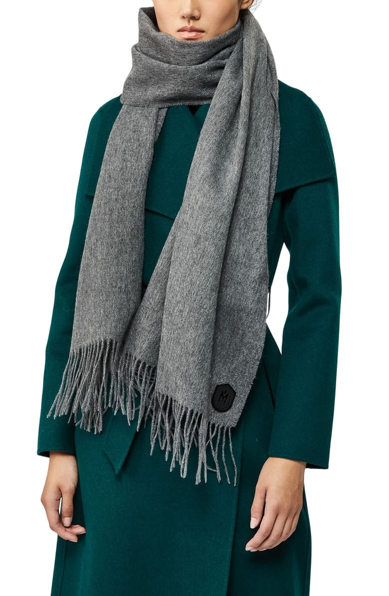 MACKAGE Woven Wool Scarf, Main, color, GREY
