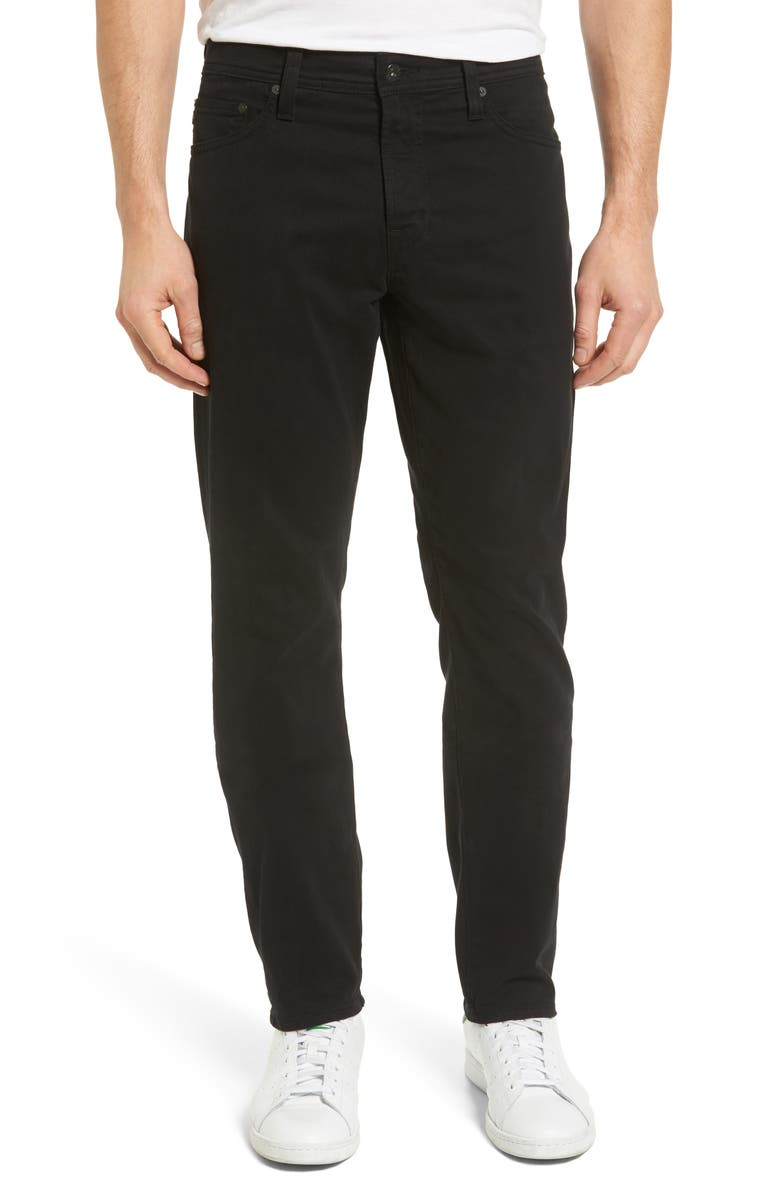 AG Everett SUD Slim Straight Fit Pants, Main, color, SUPER BLACK