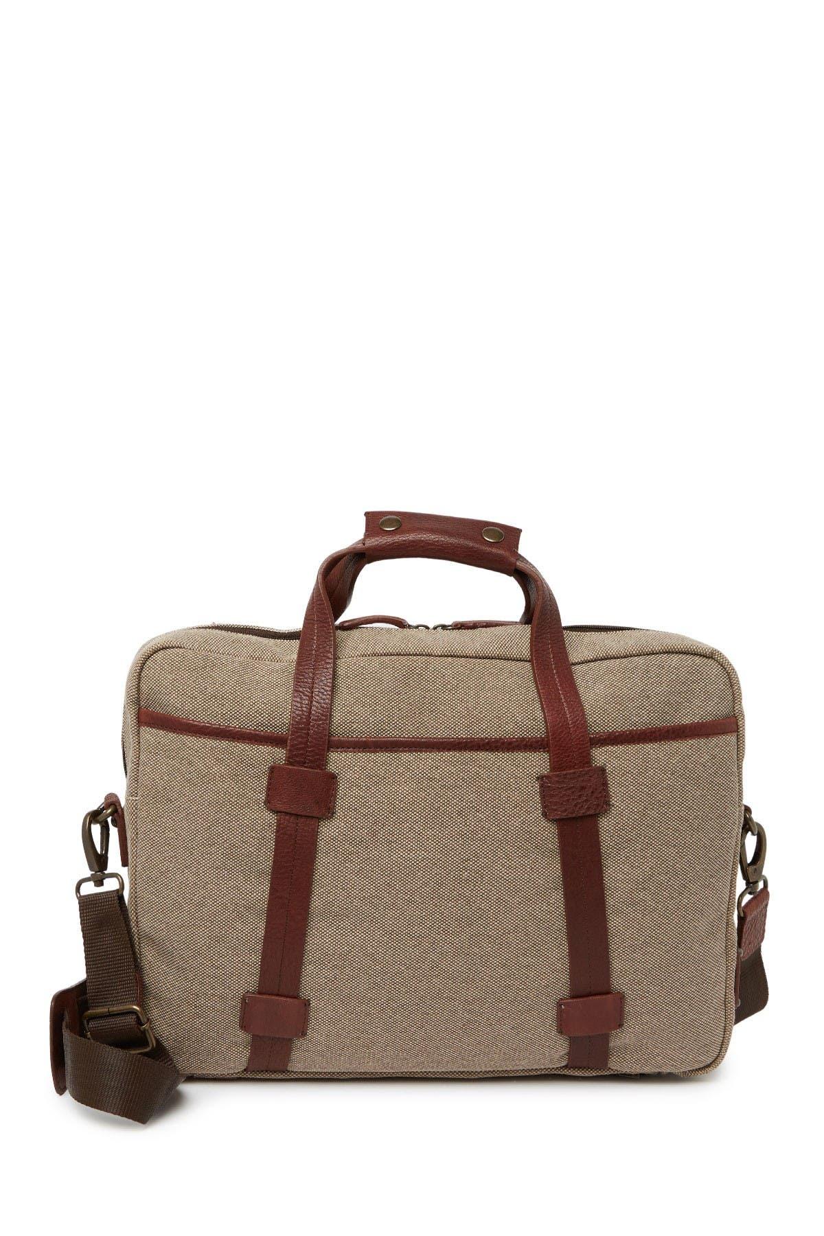 Image of BOSCA Fabric & Washed Ziptop Bag
