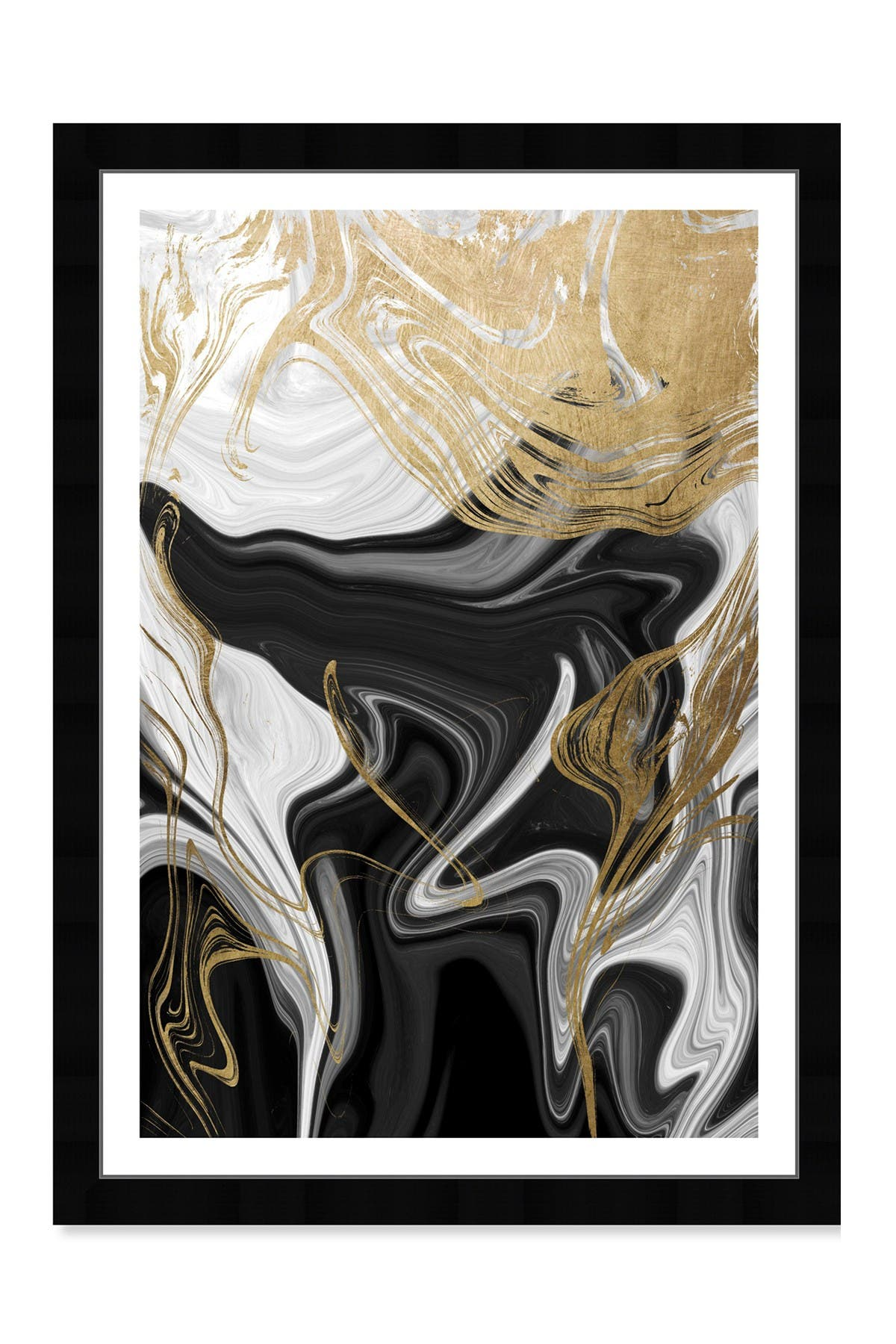 Wynwood Studio Ripples In Gold Gold Abstract Framed Wall Art at Nordstrom Rack