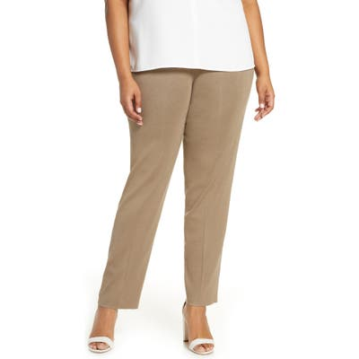 Plus Size Ming Wang Pull-On Pants, Beige