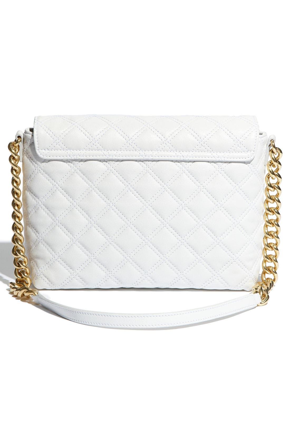 ,                             'Large Quilting Single' Leather Shoulder Bag,                             Alternate thumbnail 18, color,                             100