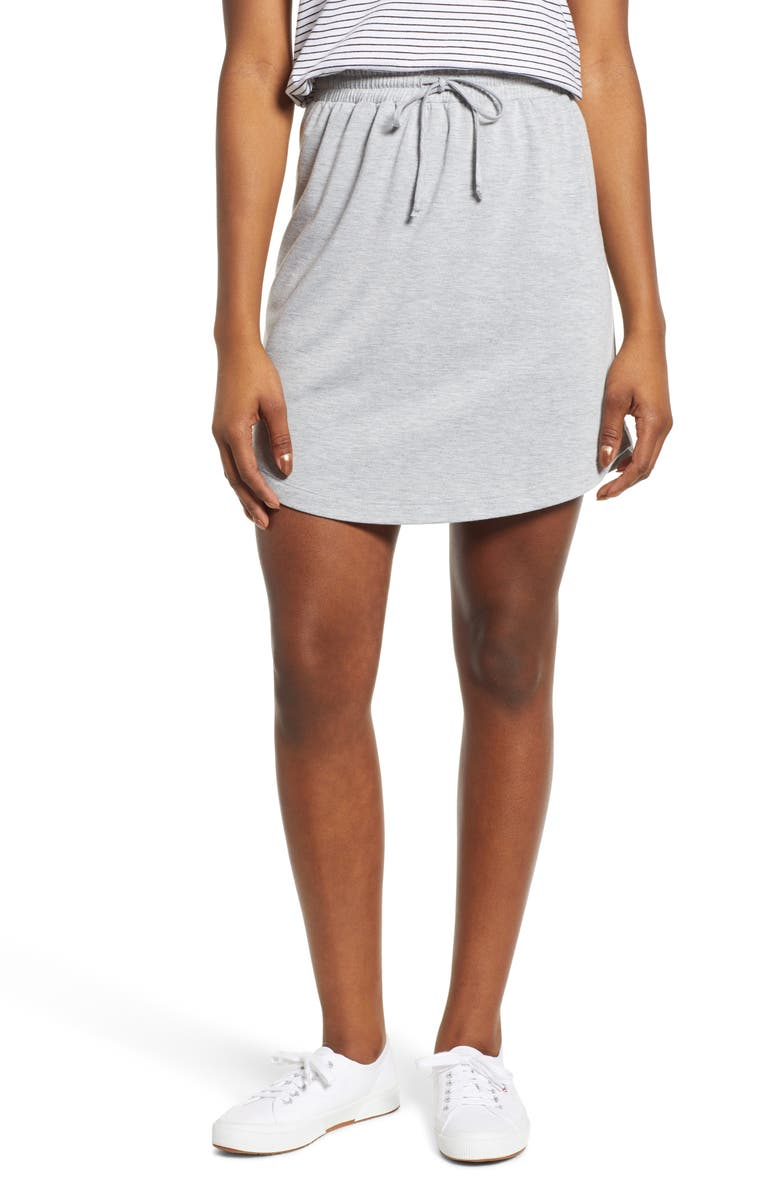 CASLON<SUP>®</SUP> Drawstring Jersey Skirt, Main, color, 030