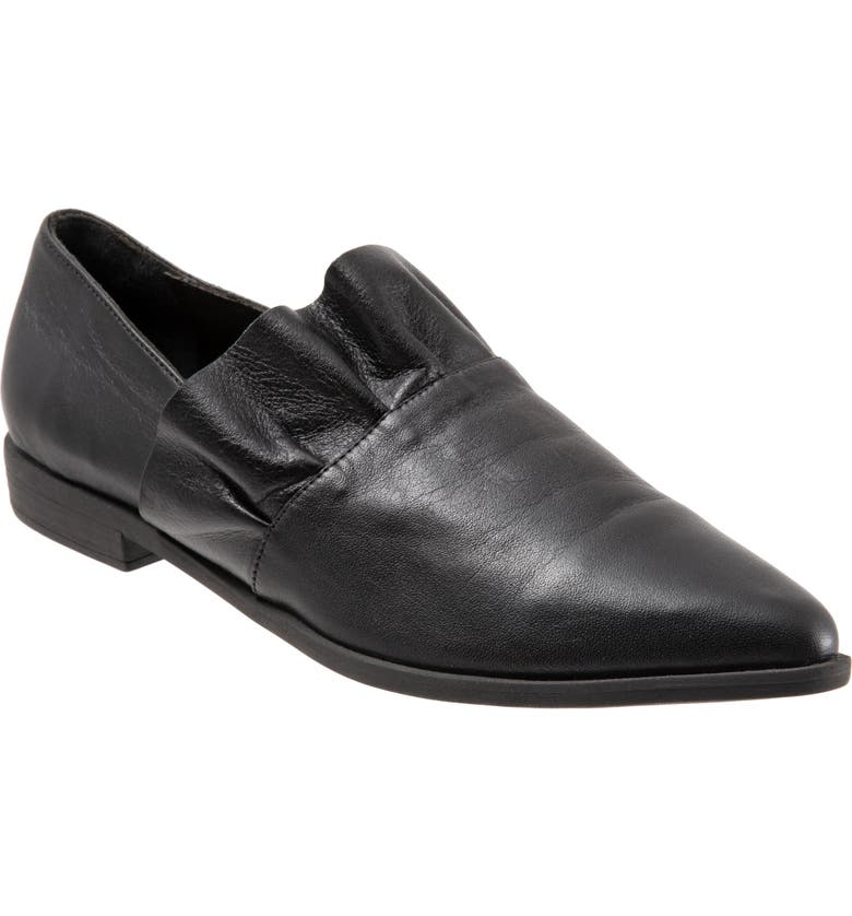 BUENO Burcu Flat, Main, color, BLACK LEATHER
