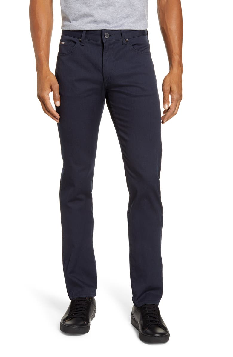 BOSS Delaware Slim Fit Five-Pocket Pants, Main, color, 402