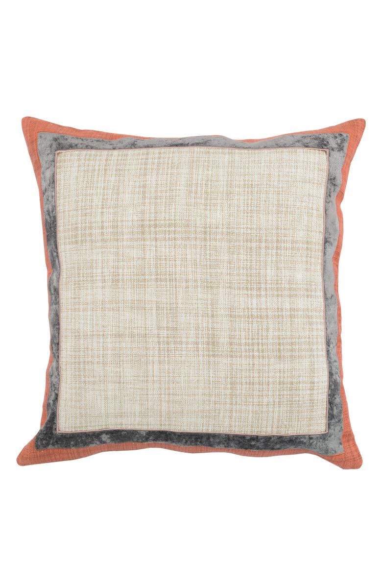 VILLA HOME COLLECTION Lena Pillow, Main, color, IVORY/ GRAY/ ORANGE