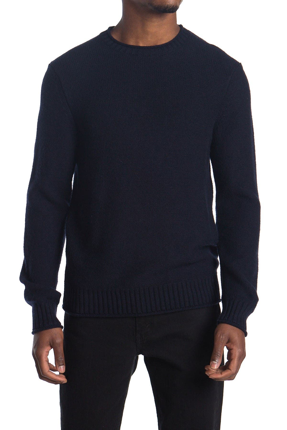 Image of Stewart of Scotland Rolled Edge Crew Neck Sweater