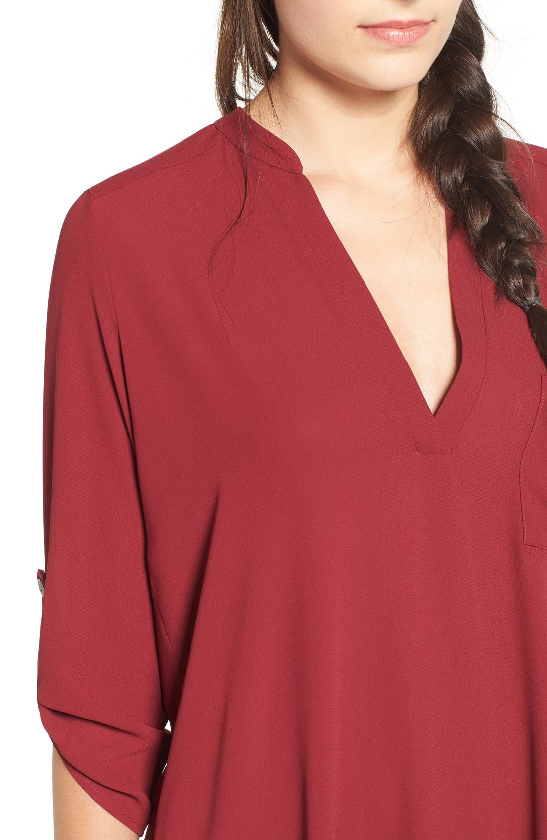 ,                             Perfect Roll Tab Sleeve Tunic,                             Alternate thumbnail 439, color,                             932