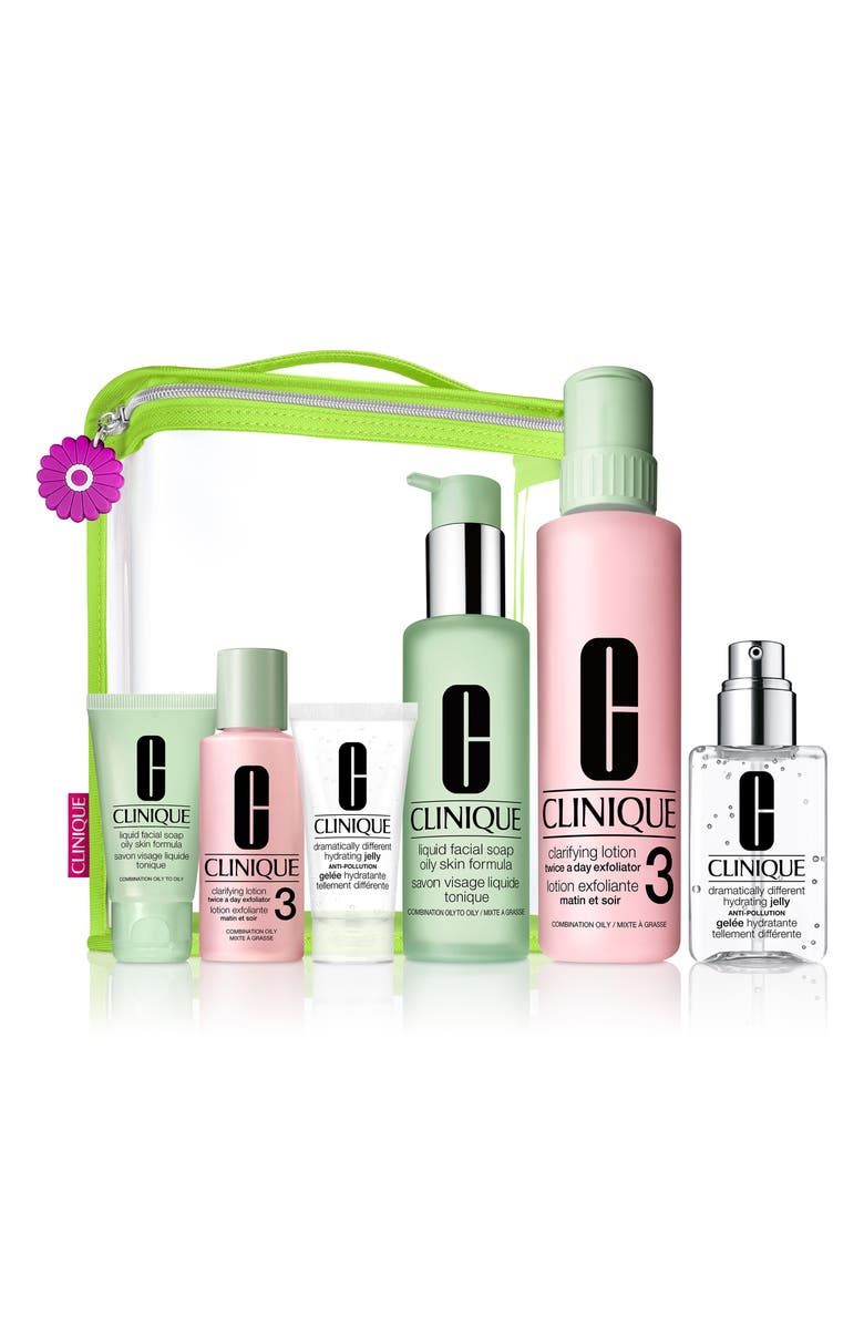 CLINIQUE Great Skin Everywhere Set for Combination Oily to Oily Skin Types, Main, color, NO COLOR
