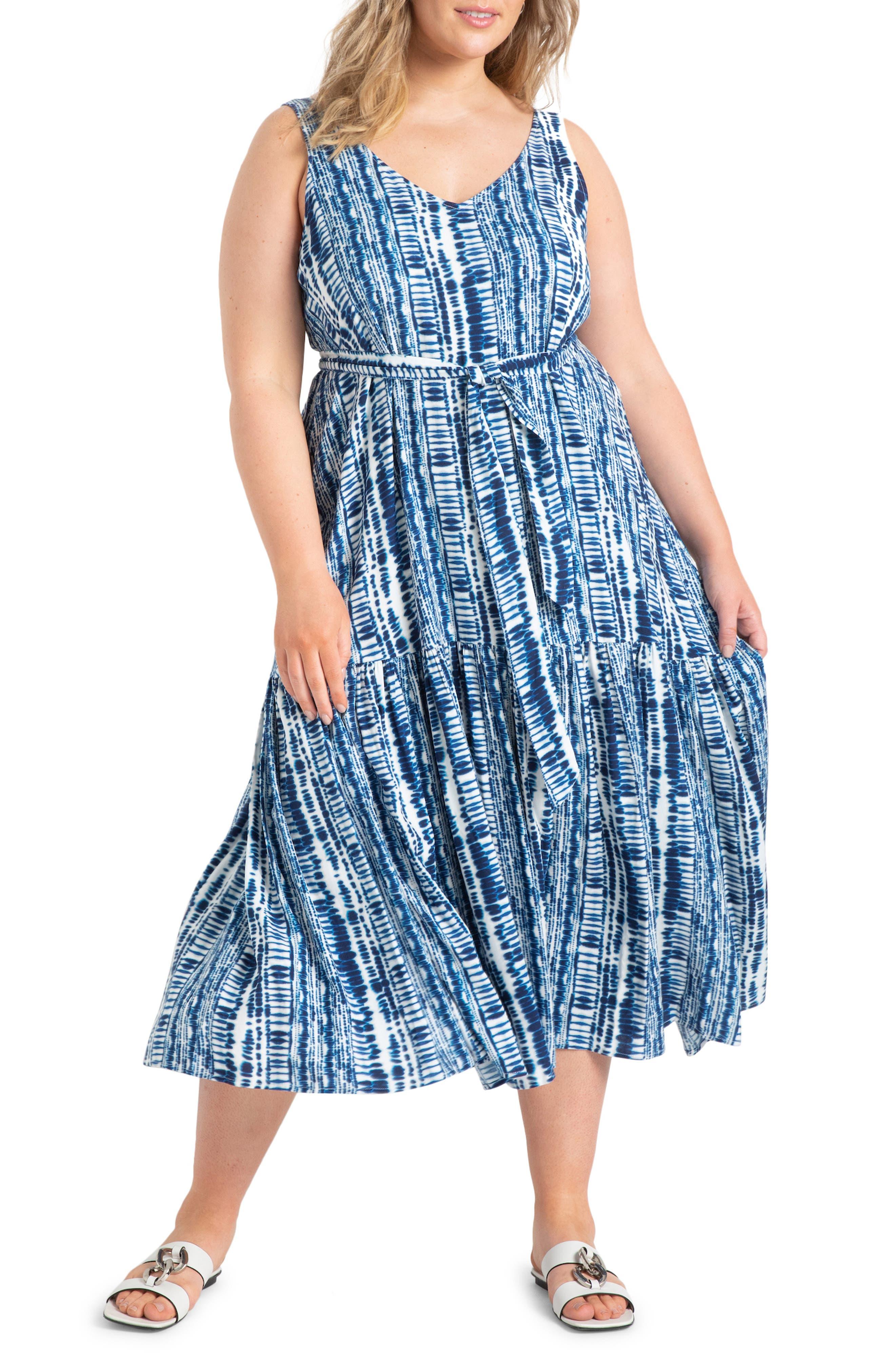 Sleeveless Flounce Maxi Dress