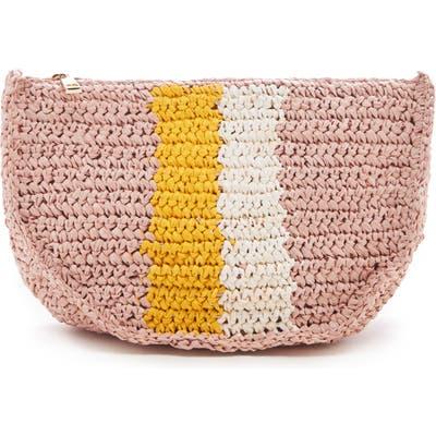 Sole Society Chade Stripe Woven Crossbody Bag - Pink
