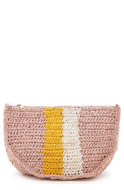 Image of Sole Society Chade Stripe Woven Crossbody Bag