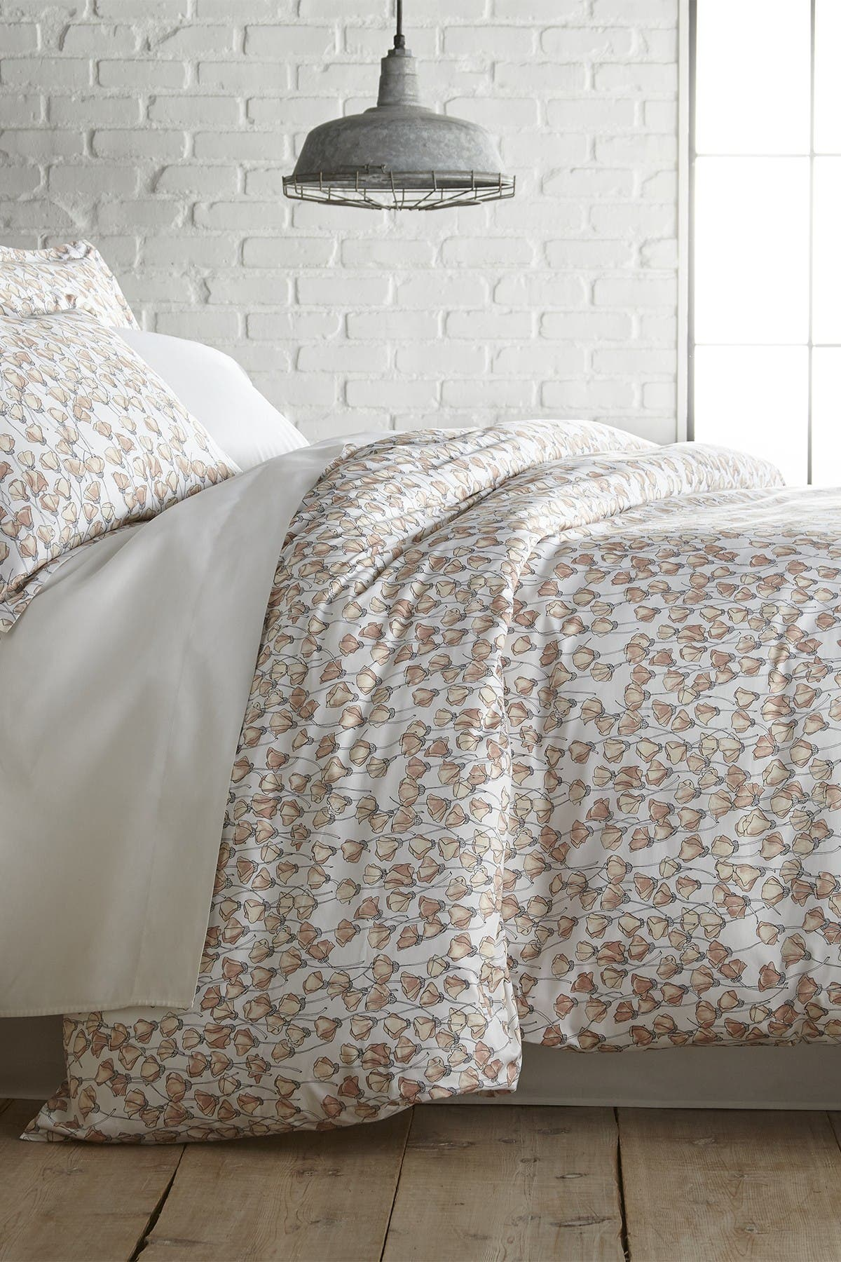 Image of SOUTHSHORE FINE LINENS King/California King Premium Collection Ultra-Soft 300 Thread-Count Cotton Duvet Cover Sets - Forevermore Blush