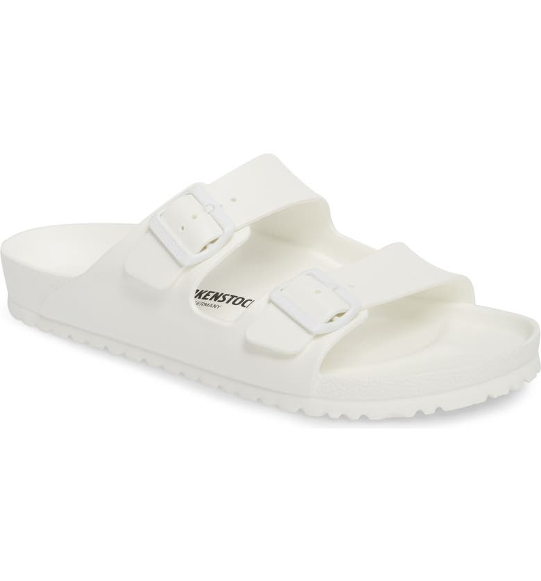 BIRKENSTOCK Essentials - Arizona EVA Waterproof Slide Sandal, Main, color, WHITE