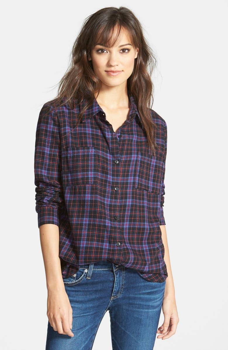 SPLENDID 'Hayes' Plaid Shirt, Main, color, 001