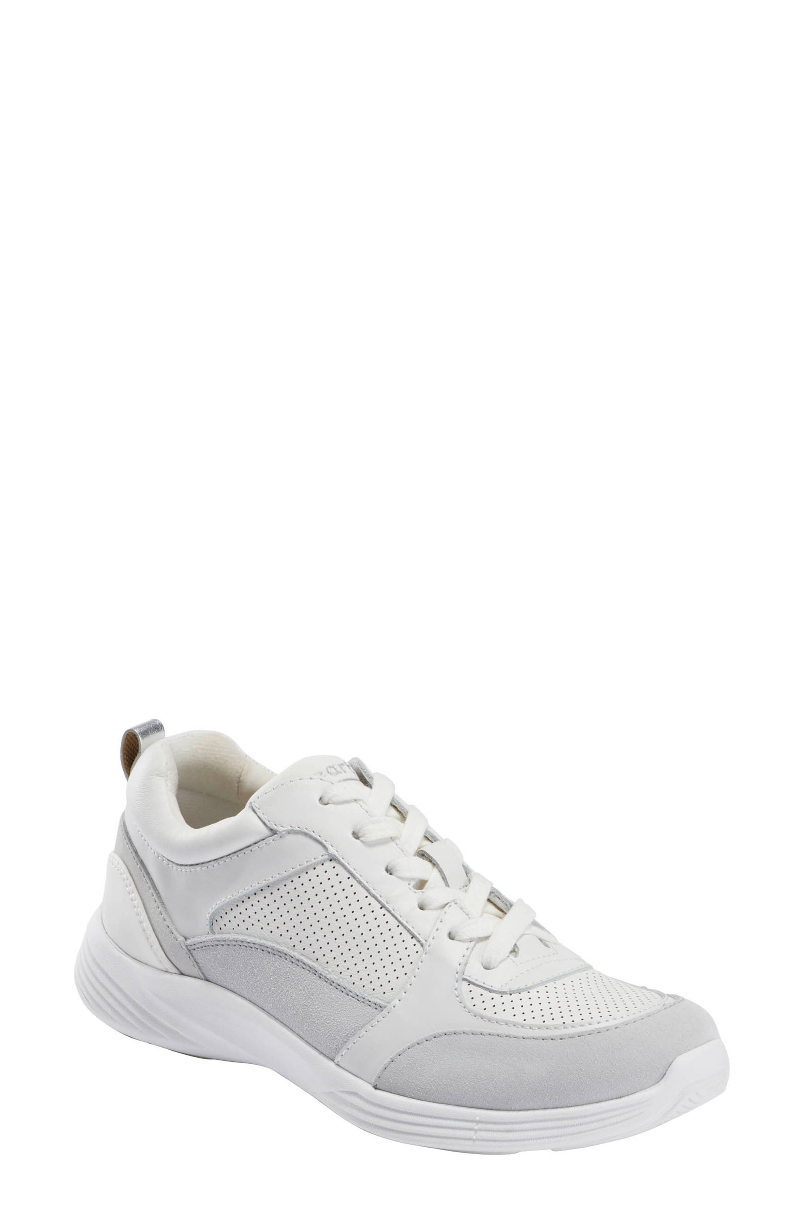 A foam-cushioned insole with shock-absorbing support defines a comfort-focused sneaker in a versatile, monochrome design for effortless, everyday style. Style Name: Earth Scenic Vapor Sneaker (Women). Style Number: 6001349. Available in stores.