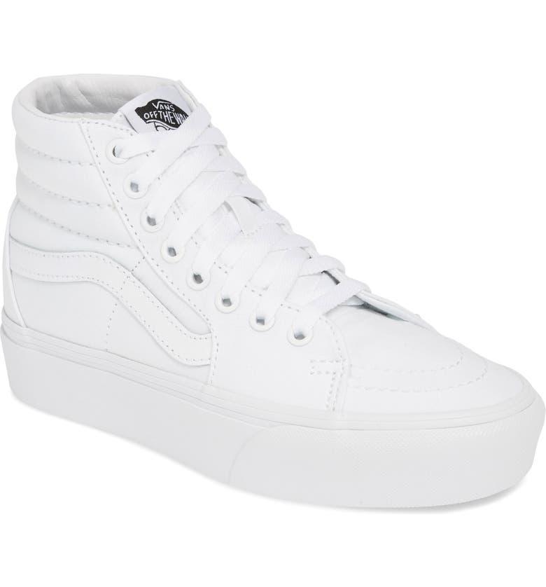 9e0e40902f Sk8-Hi Platform Sneaker, Main, color, TRUE WHITE/ TRUE WHITE