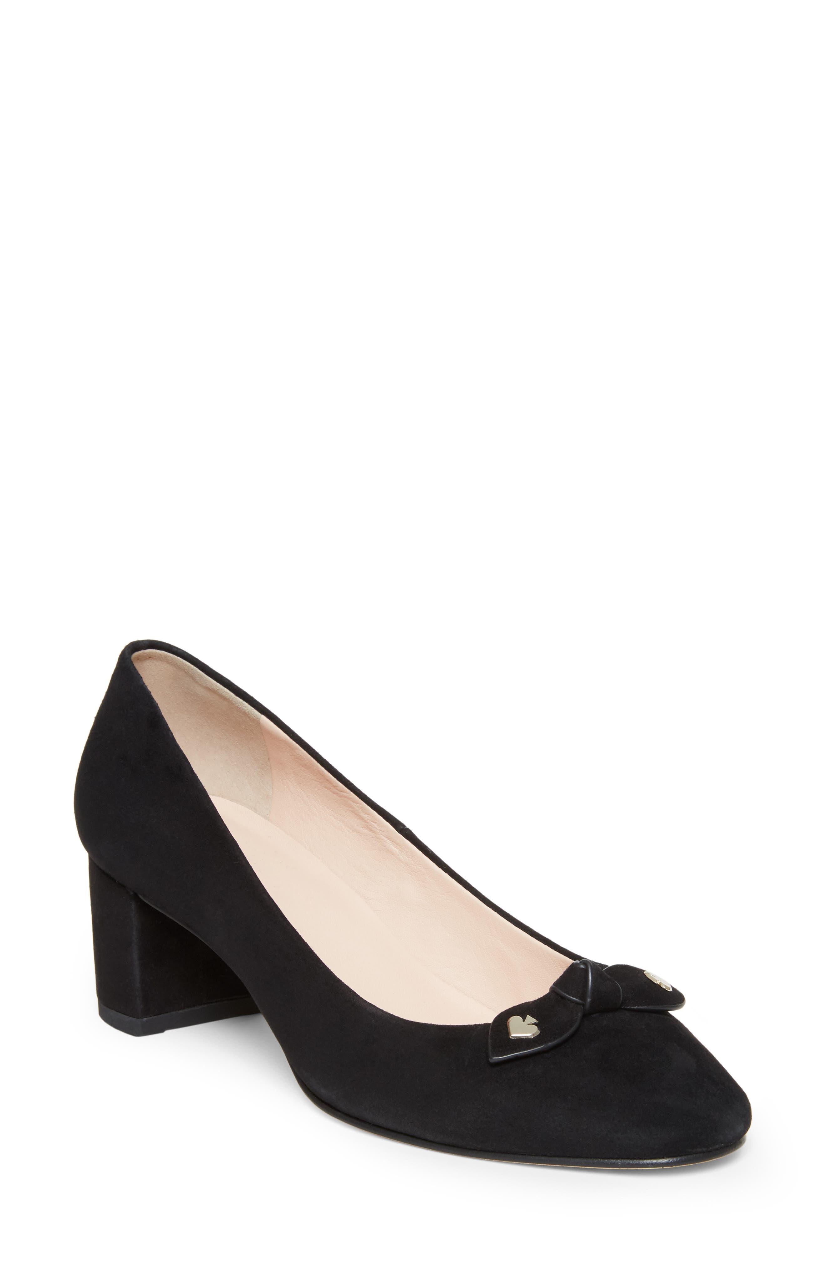 Kate Spade New York Benice Block Heel Pump- Black